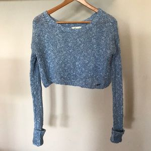 Hollister Cropped Knit Sweater